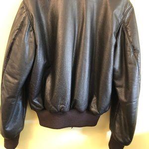 0aa11f1b5 Vintage LL Bean Goatskin Leather Bomber Jacket